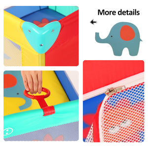 39''x 39'' Infant Toddler Foldable Playpen Playard Mattress Safety Rail Fence
