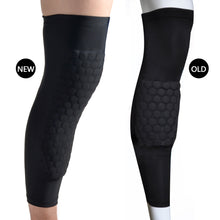 Knee Pad Strong Honeycomb Crashproof BasketBall Protective Long Leg Sleeves M size