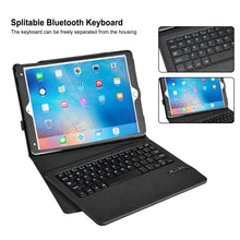 iPad Pro 10.5 Bluetooth Keyboard Case, AGPtek Ultra-Thin PU Leather Protection Case Stand with Detachable Wireless Bluetooth Keyboard for Apple iPad Pro 10.5 inch Tablet, USB Cable Included - Black