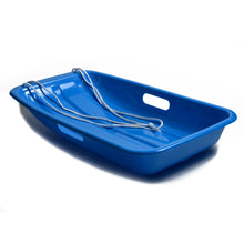 Winter Blue Plastic Snow Sled Boat Shape Sledge for Child Kid Adult Outdoor Pull