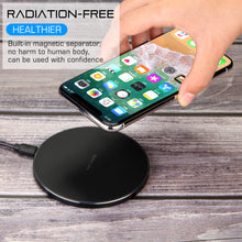 QI Wireless Fast Charger Charging For Apple iPhone X 10 8 Plus  Pad Mat Metal