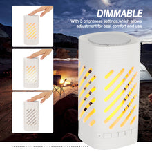 LED Smart Touch Night Lights White Bluetooth Speaker Camping Lamp Rechargeable