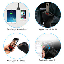 AGPtek Dual USB Car Charger Wireless Bluetooth Car Kit FM Transmitter Radio Adapter Mp3 Player