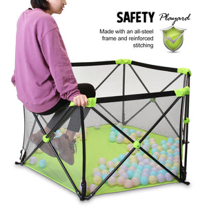 Baby Safe Playpen Portable Play Yard Infants Play Fence Foldable Toddler Fence