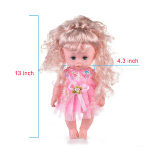 HK Lifelike Realistic Baby Doll, 16-inch Adorable Soft Washable Drink & Wet Baby Doll with Hairs & Outfits, Great Dreams Gift Set & Creative Play for Toddlers & Preschoolers (Pink)