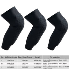 AGPtek Knee Pad Honeycomb Crashproof Basketball Leg Knee Long Sleeve Protective Pad Black S