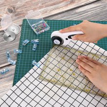 45mm Rotary Cutter Tool Kit A3 Cutting Mat Patchwork Ruler 10 Clips Spare Blades