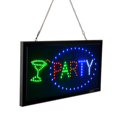 Fitnate® LED Party Sign Electric Billboard Bright Advertising Board Flashing Window Display Sign- Two Modes Flashing & Steady Light-For Business, Wedding,Party, Family Reunion, Window, Shop, Bar, Hotel  -Multicolor -Super Bright