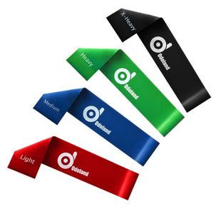 Set of 4 Light Medium Heavy and X-heavy Exercise Resistance Loop Bands Strength and Fitness For Stretch