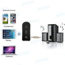 AGPtek Streambot Mini Bluetooth Wireless Receiver A2DP Adapter for Home Audio and Car Stereo