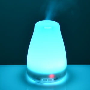 Oil Aromatherapy Diffuser Portable Ultrasonic Humidifier with 7 Color Changing LED Waterless Auto Shut-off