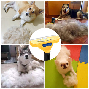 2pcs FURminator PET Short Hair Brush Removal DeShedding Grooming Tool for Large Small Dog Cat