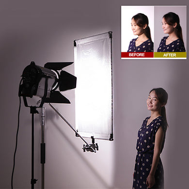 Nicam 35inchx47inch/ 90x120 CM 5-in-1Photo Studio Reversible Gold/Silver & Black/White and Translucent Fabric Panel Light Reflector with Mounting Bracket and Carrying Bag