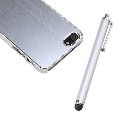 Silver Luxury Brushed Metal Aluminum Chrome Hard Case For iPhone 5