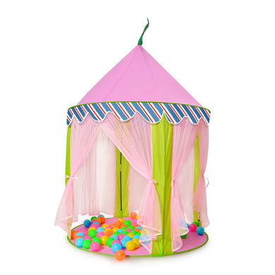 ODOLAND Princess Castle Children Play Tent for Kids Indoor & Outdoor Pink Playhouse