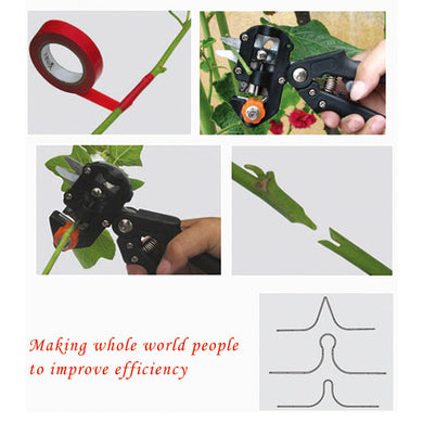 AGPtek Black Professional nursery grafting tool pruner 2 extra blades free grafting tape