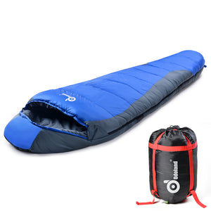 Ultra Warm Cold Weather 23F Mummy Sleeping Bag ¨C Windproof, Waterproof, Super Comfortable Bag with Compression Sack for Camping, Traveling, Survival and Outdoor Activities