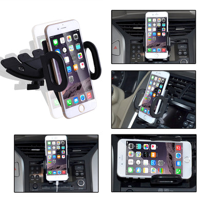 Universal 360° Car Air Vent Mount Cradle Holder Stand for iPhone Mobile Phone