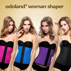 Odoland® Women Body Shaper Latex Sport Girdle Waist Training Corset Waist Shaper Underbust Shapewear