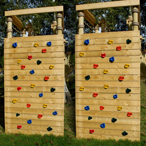 Textured Climbing Holds Rock Wall Indoor/Outdoor Playground set for Kids Children Multi Color Assorted 20 PCS