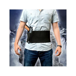 Tactical Elastic Belly Band Waist Pistol Gun Holster & 2 Magzine Pouches (Fits waist sizes from 30inch to 37inch)