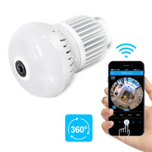 Panoramic Full HD 1080P Hidden spy Camera WIFI IP Light Bulb Camera Motion Detection CCTV