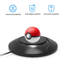 AGPtEK Desktop Charger for Nintendo Switch Poke Ball Plus Controller, Easy to Charge Stylish Design & Perfect Protection