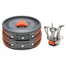 Camping Cookware Kit Outdoor Backpacking Gear & Hiking Cooking Equipment 8pcs Pot Pan Kit