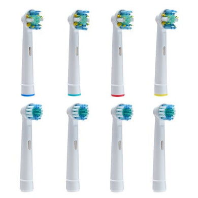 8PCS AGPtek Replacement Electric Toothbrush Heads with Regular Brush Heads and Soft Round Heads for Oral B