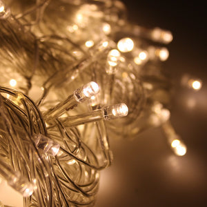 Curtain Icicle Lights, AGPtEK 3M X 3M 8 Modes Warm White Fairy String Lights for Christmas Wedding Home Garden Outdoor Window (300 LED)