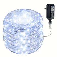 Rope Lights 23m/75.5FT 200LED,8 modes with memory function Copper Wire String rope Lights for indoor/outdoor decorations Christmas Garden, Patio, Party, Waterproof UL Safety standard. White color