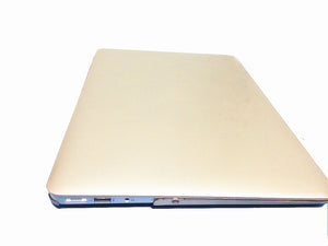"3in1 Rubberized Hard Case Champagne Gold Laptop Shell +Keyboard Skin + Screen Protector for Apple Macbook Air 13"" 13.3"" A1369 and A1466"