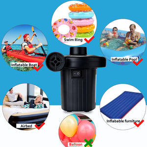 Electric Air Pump For Swimming Ring Inflatable Boat Paddling Pool Fast Deflator