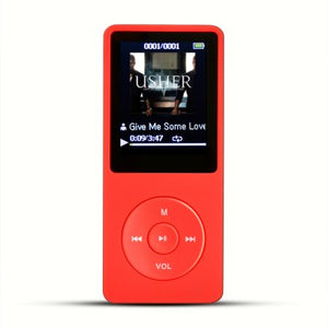 AGPtEK 8GB 70 Hours Playback MP3 Lossless Sound Music Player (Supports up to 64GB) Red