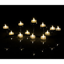 AGPtEK 24 PCS LED Tealights Battery-Operated flameless Candles Lights For Wedding Birthday Party - Warm White