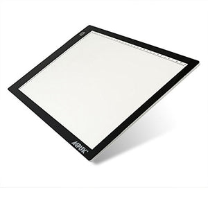 AGPtek A4 Ultra-thin Portable LED Artcraft Tracing Light Pad Light Box USB Power Cable Dimmable Brightness Tatoo Pad Aniamtion, Sketching, Designing, X-ray Viewing W/ USB Adapter (PSE Approval )