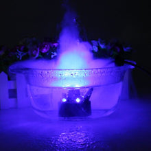 AGPtEK Mist Maker Fogger Water Fountain Pond Fog Machine Atomizer Air Humidifier with 12 LED Light Color Change For Office Home Room Car, Black
