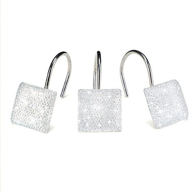 AGPtek 12 PCS Fashion Decorative Home Sequins Diamond Shower Curtain Hooks for Living Room Bedroom Bathroom Interior decoration, Soldering Iron