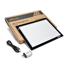 "AGPtek 17""(A4 Size) Tracing Light Box LED Artcraft Tracing Light Pad Light Box Stepless brightness control with memory function For Artists, Drawing, Sketching, Animation - White"