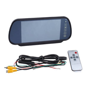"Agptek 7"" Security LCD Wide Screen Car Rear View Backup Parking Mirror Monitor + Camera"
