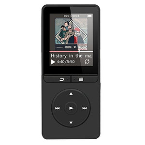 AGPtEK A20 8GB Lossless Sound Music Player with Independent Lock & Volume Control, Black