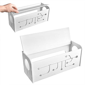 AGPtEK Cable Box for Desk/TV /Computer|Cable Management|Cable Storage Box , White