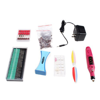 AGPtek® 110V Professional 3000-13000RPM US Plug Pro Pedicure Machine Electric File Buffer Nail File Art Drill Pen Set Kit 60pcs Set