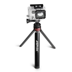 AGPtek Aluminium Alloy Mini Tripod Mount 0.25inch Screw for GoPro Hero 4 Session 4 3+ 3 2
