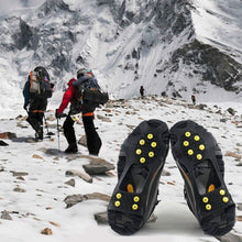 Non-Slip Over Shoe, Climbing Snow Ice Cleats Grips Anti-Slip Studded Ice Traction Shoe Covers Spike Crampons Cleats Size XL