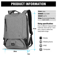 Laptop Backpack, Vicyak Slim Travel Backpack Anti-theft, Waterproof and Durable, Business Computer Backpack for Travelling, Mountaineering and School, Fit 14-Inch Laptop (Grey)