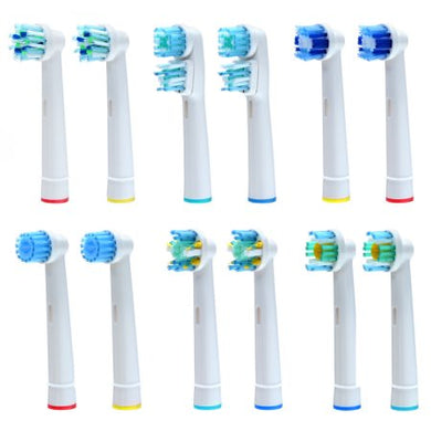 Clean Replacement Electric Toothbrush Heads Pack of 12 Assorted Heads