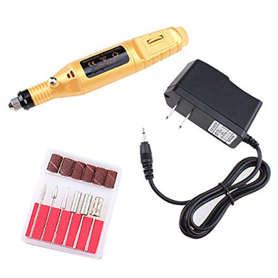 Pen Shape Electric Nail Art Tips Polish Manicure Drill File Machine Tool Golden