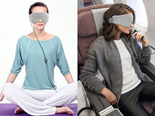 AGPtEK Ultra Soft Comfortable Noise Canceling Wired Sleep Headphones Eye Mask with Built-in HD Audio Speaker, Perfect for Insomnia Treatment, Bedtime&Travel &Meditation