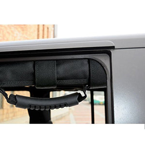 Grab Handles, AGPtek Pack of 2  Roll Balance Grab Bar for Jeep Wrangler YJ TJ JK - Black